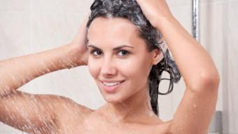 Мытье головы водой без шампуня