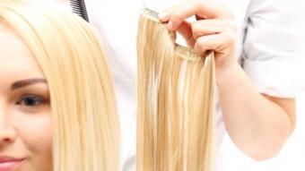 Сделать ленточное наращивание волос
