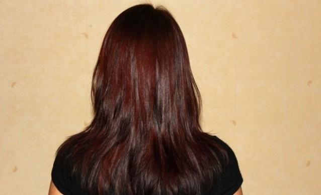 Каштановый оттенок волос