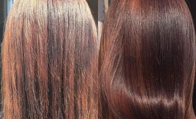 Волосы до и после коллагена