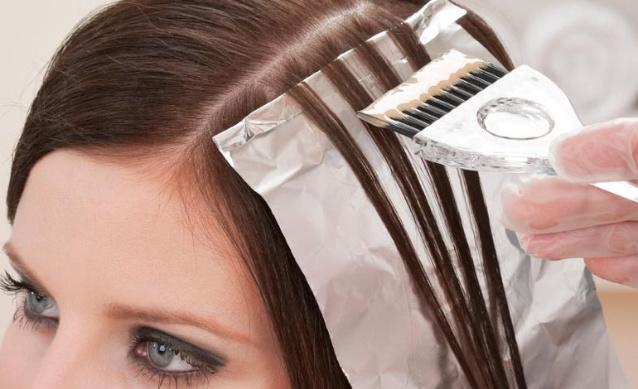 Процесс мелирования волос