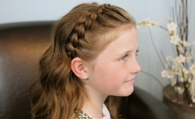 Детская прическа с косой
